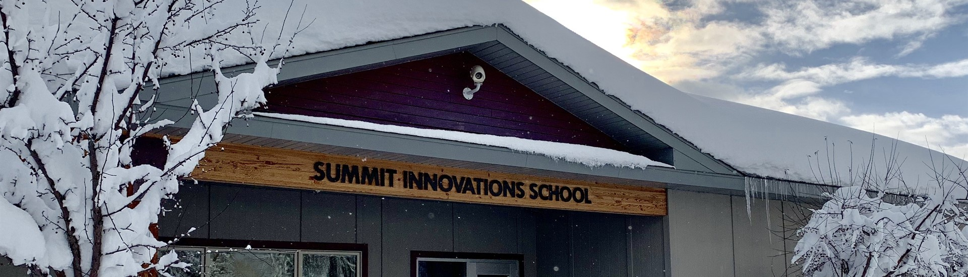 Summit Innovations School in the snow